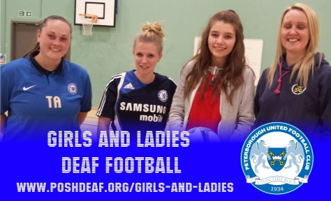 gitls and ladies deaf football peterborough united