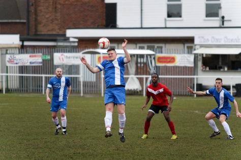 Chris Long deals with a high ball