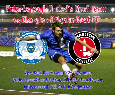 Peterborough United Deaf vs Charlton Deaf