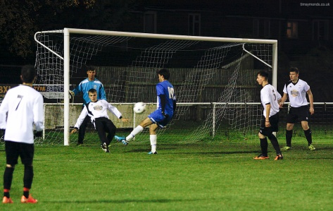 Cameron Cockerill scores the first ever Peterborough United Deaf Team goal
