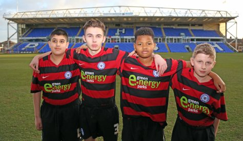 Under 16's Husnayn Hussain, Michael Delaney, Vitor Balde, Ryan Delaney