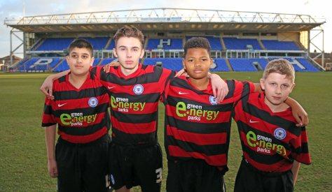Under 16's Husnayn Hussain, Michael Delaney, Vitor Balde, Ryan Delaney