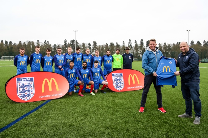 Posh v McDonald's special sponsorship match photos and video